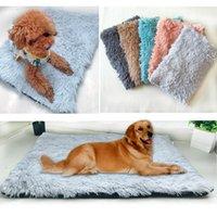 부드러운 플러시 애완 동물 매트 개 침대 침대 겨울 두꺼운 따뜻한 고양이 담요 강아지 잠자는 커버 수건 작은 중형 대형 개 쿠션 쿠션 펜