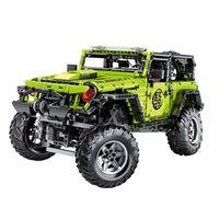 2343 قطع LE-J902 تكنيك التطبيق موتور rc نموذج سيارة moc الأخضر 6x6 اللبنات الطوب الاطفال عيد الميلاد diy لعبة تعليمية X0503