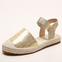 Sandals Summer 2021 Fisherman Women European American Style Straw Woven Flats Shoes Leather Platform Ladies PW064