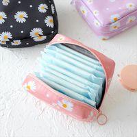 Women Tampon Daisy Storage Cosmetic Bags Sanitary Pad Pouch Napkin Organizer Ladies Makeup Girls Holder