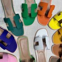 Oran sandalen flacher boden leder geraster ude und hohl obere oase sandalen high heel damen strand hausschuhe Straußendruck Slipper EUR 35-42 YOE0 #
