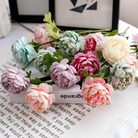 29cm Artificial Peony Flower Bouquet For Home Wedding Birthd...