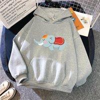 Hiver Little Elephan Pulls Styles Sweat-shirt Sweat à capuche surdimensionné Vêtements Streetwear Esthétique Dessin animé Sweats Sweat Tops Swea Femmes Swe