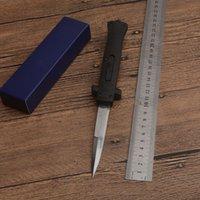 SALABILE 9 pollici lama tattico della mafia dell'EDC 440c 440C Singola lama del satinato Coltelli tascabile ABS ABS rinforzato ABS Sopra Salto Automatico 3300 A07 C07