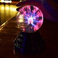 Luz de iones electrostática USB Plasma Bola esfera luces Lámpara de cristal de cristal de 3 pulgadas Mágico Magical Globe Decoración de la computadora portátil Regalo