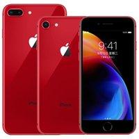 أحمر اللون تم تجديده الأصلي فون 8/8 زائد بصمة ios a11 hexa الأساسية 64/25 جيجابايت rom 12MP مقفلة 4 جرام lte الهاتف الذكي dhl 30 قطع