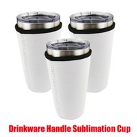 Hot Drinkware Handle Mugs Sublimation Blanks Reusable 30oz Iced Coffee Cup Sleeve Neoprene Insulated Sleeves Cover Bags Holder Handles For 20oz 32oz Vacumm Tumbler
