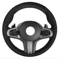 Auto Alcantara Suede Genuine Leather Car Steering Wheel Cover For M Sport G30 G31 G32 G20 G21 X3 G01 X4 G02 X5 G05 G14 G15 Covers