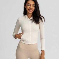 Sportswear Women's Jacket Slim Tight Elastic Quick Drying Yoga Hoodies Running Top Long Sleeve Fitness Zipper Coat