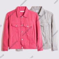 2021 Yeni Avrupa Sonbahar Erkek Mektup Baskı Kovboy Ceket Moda Ceket Erkekler Bayan Uzun Kollu Denim Kot Ceket Vintage Streetwear Coat