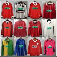 United Long Sleeve Soccer Jersey Man Football Giggs Scholes Beckham Ronaldo Cantona Solskjaer Manchester 07 08 93 94 96 97 98 99 86 88 90 91 루니 클래식 셔츠
