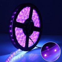 Şeritler 12 V LED Şerit Işık 5 Metre Lamba Şerit Esnek Mor IP67 Su Geçirmez Parti Atmosfer Noel Dekor