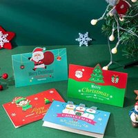 Greeting Cards Merry Christmas Gift Card Xmas Blessing Envelope Santa Claus Year Postcards