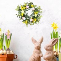 Easter Eucalyptus Wreath Artificial Plants Background Wall Window Decoration Garland Wedding Party Supplies Gifts DIY Home Decor Decorative