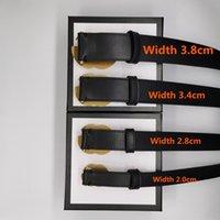 Homens Designers Cintos Mulheres Cintura Ceinture Duplo G Bronze De Couro Genuíno Largura de Cinto de Design Clássico 2.0cm3.0cm 3,4cm Comprimento 90-120cm com caixa