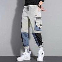 Mode Homme Pant Spring Spring Automne Hip Hop Streetwear Pantalons de cargaison Joggers Pantalons Hommes Casual Hommes Vêtements Élastique Taille Elastic Hommes Pantalons