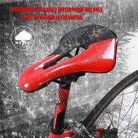 자전거 안장 서쪽 자전거 자전거 자전거 안장 PU 가죽 MTB 중공 통기성 쿠션 부품 액세서리 사이클링 부품