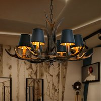 Retro Antlers LED Chandelier Pendant Lamps Table Dining Living Room Kitchen Accesories Lights Home Decoration Interior Lighting Fixture