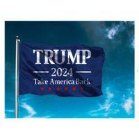 ترامب 2024 العلم الولايات المتحدة الرئيس الانتخابات العلم حملة راية الطباعة الرقمية دعم راية العلم حديقة ساحة OWD8887