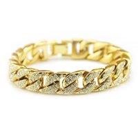 Accessories hot hiphop hip hop diamond Cuba chain 14mm bracelet fashion trendy men's jewelry