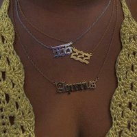 Chains 111 222 333 444 555 777 888 999 666 Devil Necklace Stainless Steel Gold Angel Number Pendant Chain For Women Jewelry