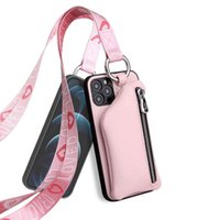 Apple 휴대 전화 케이스 iPhone12Promax / 11 / XR / 미니 / XS 끈 코인 지갑 조수 브랜드 가죽