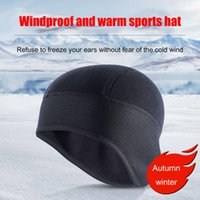 Cycling Caps & Masks Winter Windproof Warm Cap Thermal Fleece Bicycle Riding Beanie Outdoor Running Skiing Sports Thickened Headwear Hat