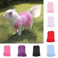 Mini vestidos perros t shirt primavera mascota chaleco sudadera ropa de perro pelea pug bichon cachorro ropa 936 R2