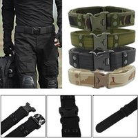 Belts 2021 Army Combat Quick Release Tactical Belt Fashion Men Canvas Waistband Outdoor Camping Climbing Outside Waist Strap