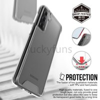 Premium SPACE Transparent Rugged Phone Cases Clear Shockproof Cover For Samsung S21 ULTRA S20 PLUS S10 NOTE20 S20FE A32 A42 A72 5G A50 A70 A01 A12 A21S