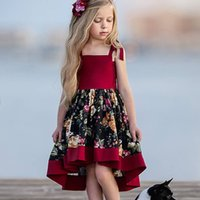 INS Baby girls Floral Backless Sling dress children Flower print princess dresses summer Fashion boutique Kids Clothing Z4523