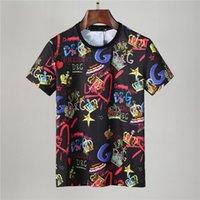 이탈리아 남자 솔리드 컬러 티셔츠 티셔츠 럭셔리 여름 스포츠 망 짧은 소매 티셔츠 캐주얼 패션 상어 인쇄 고품질 여성 힙합
