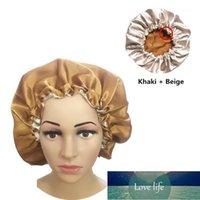Beanie Skull Caps Muslim Women Night Sleep Cap Satin Elastic Bonnet Hat For Hair Care Head Cover Adjust Loss Beanies Skullies Islamic 1