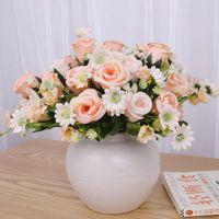 Decorative Flowers & Wreaths Rose Artificial Flower High Quality Peony Bouquet Silk Autumn Decoration DIY Home Garden Wedding