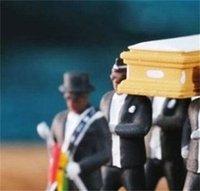 1:64 High Simulation Plastic Ghana Funeral Coffin Dancing Pallbearer Team Model Exquisite Workmanship Action Figure Car Decor 6 V2
