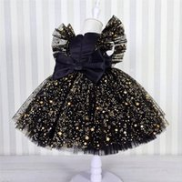Princess For Baby Girls Sequined Girl Dress Birthday Party Tutu Prom Gown Toddler Kids Lace Mesh Elegant Wedding Christening Clothes
