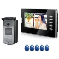 Video Door Phones 7'' TFT Color RFID Phone Intercom Doorbell Wired Access Entry System For Home 1 Monitors Camera Night Vision