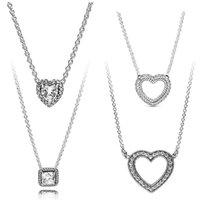 Chains 100 % 925 Sterling Silver DIY Charms Gargantilla Making Accessories Fit Original Designer Custom Jewelry Women Necklace