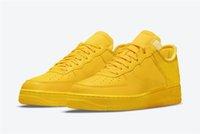 2021 MCA Authentic Low 1 University Gold Shoes Off Blue 07 Volt White Black Chicago UNC Men Women Outdoor Sports Sneakers With Original Box US5-13