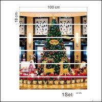 Decoraciones Festivo Fiesta Suministros Home GardensLT021 Tienda Mall Árbol de Navidad Simatación 3D Stail Etiqueta Etiqueta Impermeable Moda Creativo Paso D