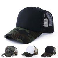 위장 트럭 모자 5 패널 빈 태양 모자 군사 메쉬 야구 남자 여자 모자 조정 가능한 여름 스포츠 공 캡 83 W2