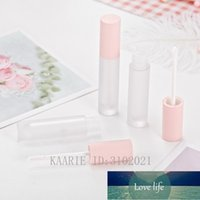 Storage Bottles & Jars 5ml DIY Empty Pink Lip Gloss Tube Cap Lipgloss Plastic Clear Frosted Packing Container Mini