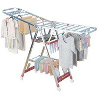 Rack de secagem de aço inoxidável Folding Dobrável Indivíduo Individual Cool Balcão Crianças Simples Pendurado Cabides Cabides
