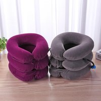 Pillow 3-layered Air Inflatable Vertebra Retractor Neck Support Tractor Treatment Shoulder Pain Relax Massager