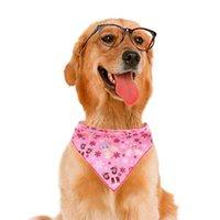 Matériau de coton de la serviette de chien de chien de chien Doux à confortables Foulard pour animaux de compagnie Foulard pour animaux de compagnie Dépannements de décoration de cadeau de Noël