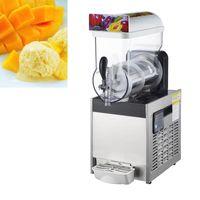 15L Commercial Slushy Machine Single Cylinder Electric Automatic Slush Maker Machine  Drink Snow Melting Machine 450W