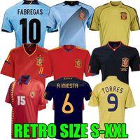 Final 1994 1996 2008 2010 2012 İspanya Retro Futbol Jersey Fabregas Xavi Luis Ensrique Xavi Alonso Iniesta Pique Torres Camiseta de Fútbol