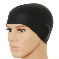 긴 머리 여자를위한 실리콘 수영 모자 여성 남성 여자 방수 수영 모자 레이디 목욕 다이빙 서핑 후드 모자 성인 귀 보호 유연한 모자 도매