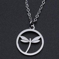 Collane del pendente Collana di fascino dell'acciaio inossidabile della libellula per le donne Accetta l'ordine OEM Ordine delicato