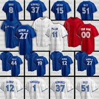 27 Vladimir Guerrero Jr. Baseball Jerseys 11 Bo Bichette George Springer Kirby Yates 12 Roberto Alomar Steven Matz 15 Randal Grichuk